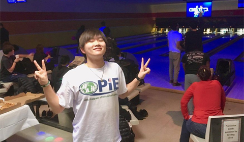 OPIE Student at 2017 Bowling Night