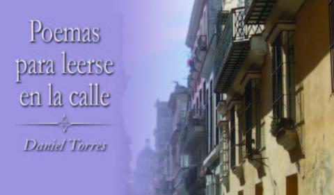 Book cover with streetscape and words: Poemas para leerse en la calle