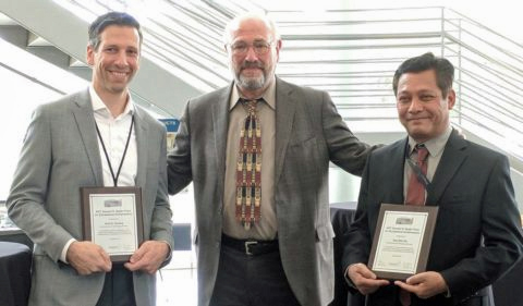 OHIO professor Dr. Saw Wai-Hla (right) was awarded the Samuel D. Bader Prize by the Argonne National Laboratory. Group photo