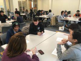 Participants at the International Conversation Hour 04/03/18