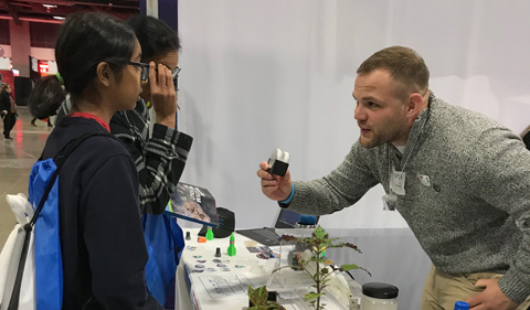 Alexander Meyers at the USA Science & Engineering Festival.