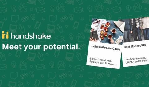 Handshake graphic: Meet your potential.