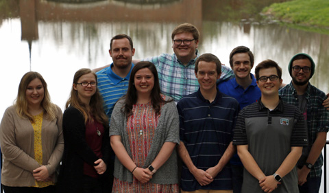 Group photo of OU CAMS new officers