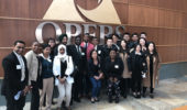 Master of Financial Economics students pose for a photo at OPERS headquarters.