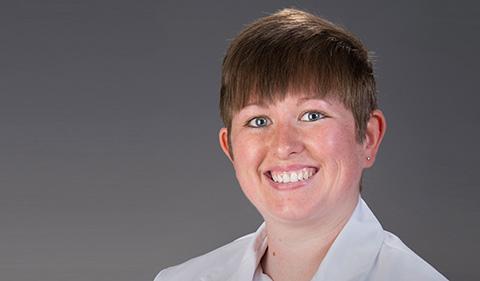A smiling Tiffany Downs