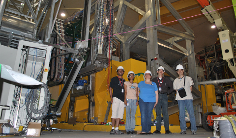 OHIO affiliated Qweak Collaboration authors pictured here at Jefferson Lab in front of the Qweak apparatus