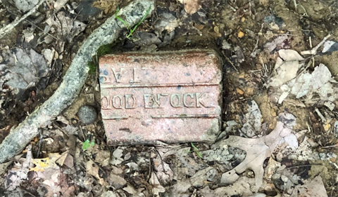 Portion of a brick found in the Wayne National Forest.