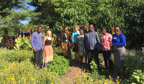 Food Studies and OHIO Student Farm Host Ghanaian Scholars