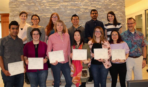 Group shot of 2018 MA in Applied Linguistics graduate students