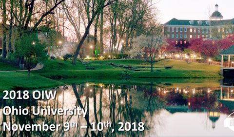 2018 Ohio Inorganic Weekend Nov. 9-10 at Ohio University