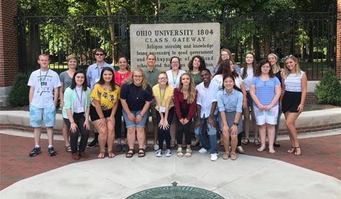 2018 Summer Law and Trial Institute students at the Class Gateway