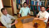 (L to R) Dr. Madappa Prakash, Md. Abdullah Al Mamun, and Dr. Constantinos Constantinou