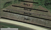 Outcrop studied by Hembree and Carnes with climatically influenced soil zones labeled