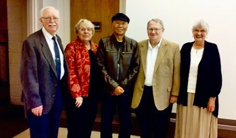 Group photo, From left: Richard McGinn, Zinny Bond, Marmo Soemarmo, James Coady, and Beverly Flanigan