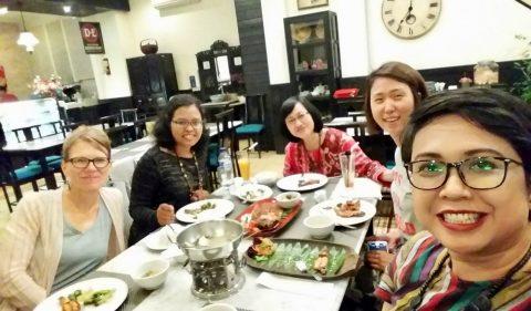 Dr. Dawn Bikowski Keira Park meet OHIO alum Antonia Suryantari