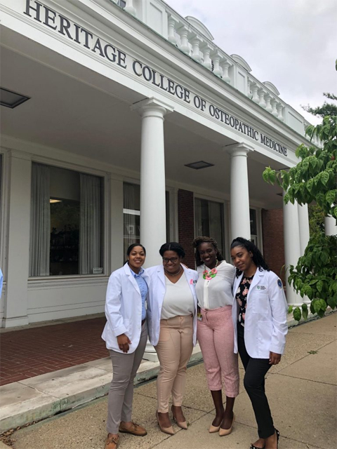 Group shot outside Heritage College of Osteopathic Medicine
