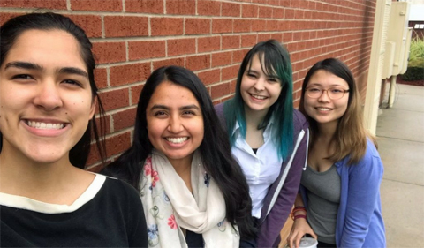 Franchesca Rife (second from right) with other interns at Tapestri