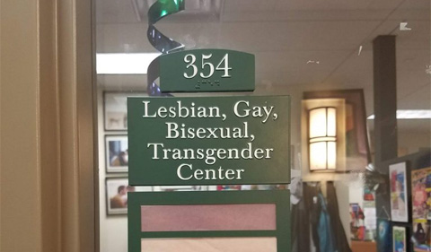 LGBT Center sign in Baker 354