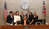 Members of the mock trial team at Franklin County Court of Common Pleas.
