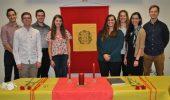 ¡Felicidades! to the new initiates of Sigma Delta Pi: Allison Shryok, Anna Traini, Blake Weyland, Jacob Handley, Jim Nally, Kathryn Gardner, Margaret Saine, and Vincent Lyons.