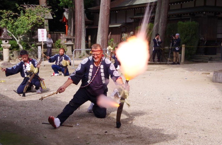 OHIO Professor Becomes First Foreigner to Fire Flintlock Musket In  Annual Japanese Fall Festival