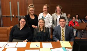 The Ohio University Mock Trial Invitational Team after the tournament