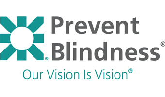 Logo for Prevent Blindness, Our Vision is Vision