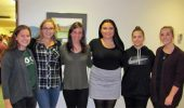 From left: Frances Kokos (vice president), Baily Menefee (PR and social chair), Hannah West (secretary), Jenna Shroyer (president), Gillian Null (community service chair), Rebecca Fouts (treasurer).