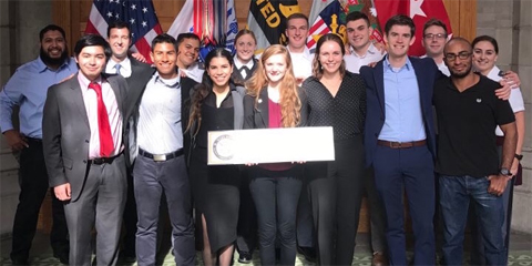 Western Hemisphere group at the Student Conference on U.S. Affairs at West Point.