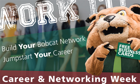 Rufus says get free business cards and RSVP for College of Arts & Sciences Career & Networking Reception