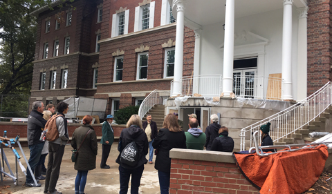 Alumni Get Insider Look at Newly Renovated Ellis Hall