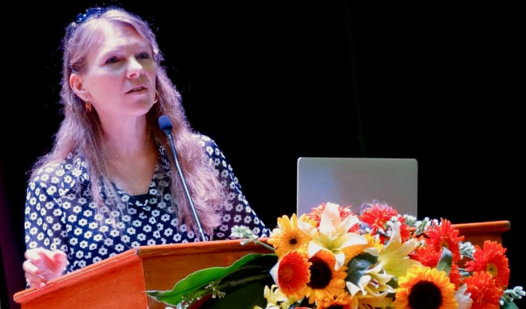 Dr. Dawn Bikowski giving keynote address at International Conference on Teaching and Learning Foreign Languages in Hanoi, Vietnam