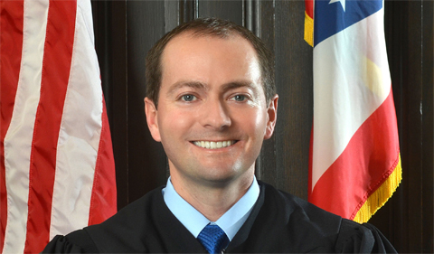 Jon Oldham, portrait in judicial gown
