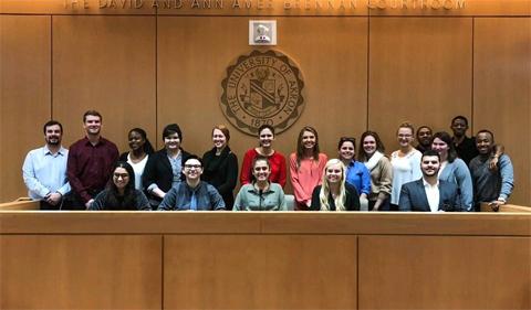 Phi Alpha Delta on a law school visit, group shot