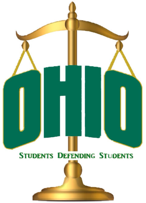 Students Defending Students with scales of justice at OHIO