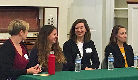 Panel From left: Caroline Nagy, Anika Holland, Madison Koenig, Liz Herron