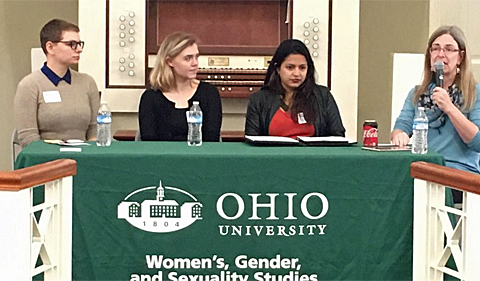 Panel From left: Jessica Ensley, Alyssa Ensminger, Anushka Gole, Dr. Patty Stokes
