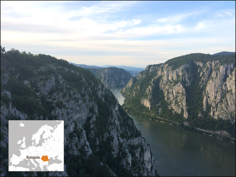 Iron Gates Natural Park – located in Southwestern Romania on the left side of the Danube river