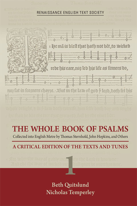 The Whole Book of Psalms: A Critical Edition of the Texts and Tunes. Book cover with staff and music illustration