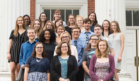 Undergraduate Research Scholars, group photo
