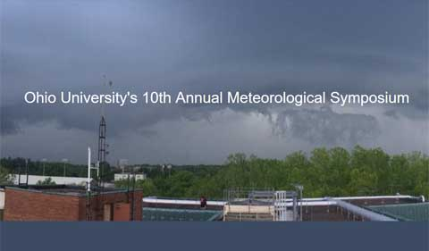 Ohio University's 10th Annual Meteorological Symposium, photo showing weather station on roof of Clippinger