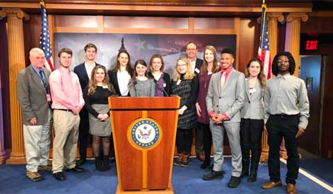 Group shot of Ohio University students in the Capital Internship Program.