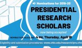 Nominations for Presidential Research Scholars Due April 18