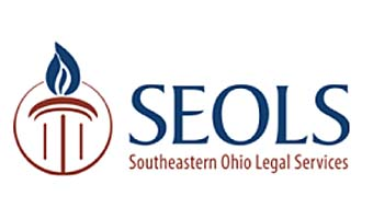 Southeastern Ohio Legal Services logo, with stylized flame