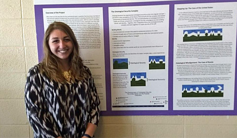 HTC student Aliviah Chaplin won first prize at the Student Research Expo.