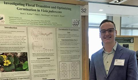 Brett L. Kalfas with his poster at ASPB Mid-West regional