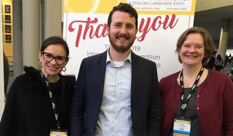 Gabriela Castaneda-Gleason, Center Joel Keefer, and Laura Thomas