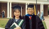 Dr. Jue Chen and her uncle at her 1993 OHIO graduation. Photo courtesy of: Dr. Chen