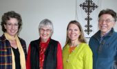 From left, Michelle O'Malley, Beverly Flanigan, Dawn Bikowski, David Bell