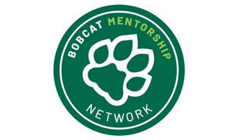 Bobcat Mentorship Network logo wiith paw print